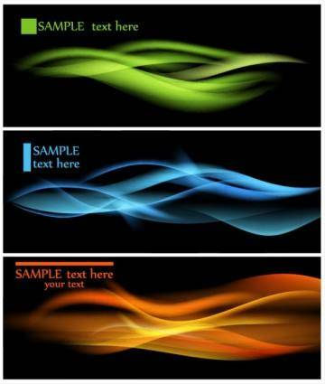 free vector Dynamic flow line 01 vector