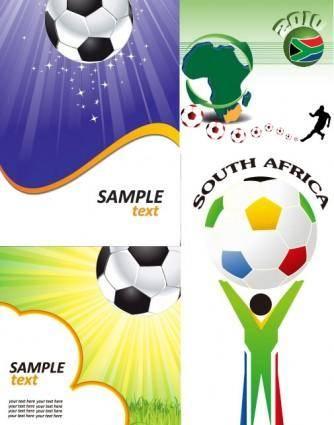 Football theme vector 5390
