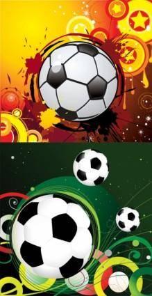 Vector trend of football