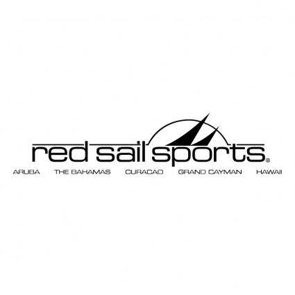 free vector Red sail sports