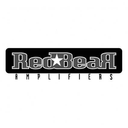 free vector Red bear amplifiers