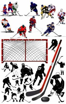 free vector Hockey player vector