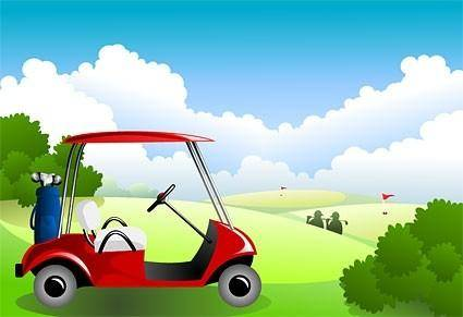 free vector Golf course under the blue sky vector