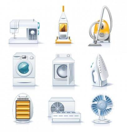 free vector Household appliances 01 vector