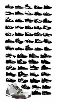 free vector Variety vector shoes