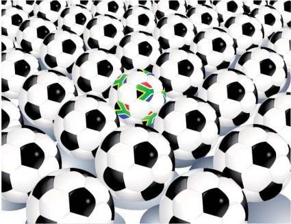A lot of football vector