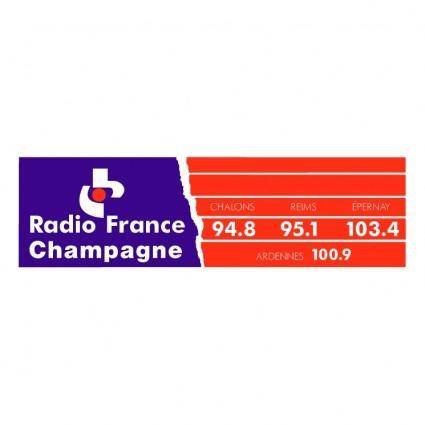 free vector Radio france champagne