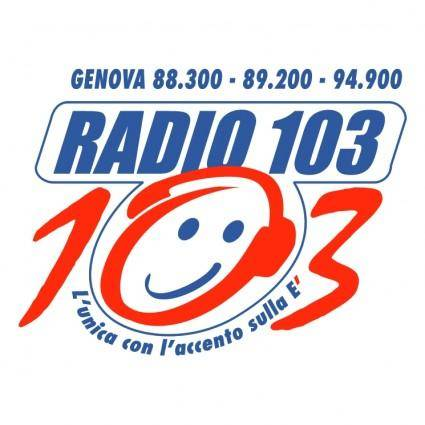 free vector Radio 103 liguria
