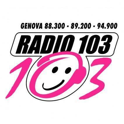 free vector Radio 103 liguria 1