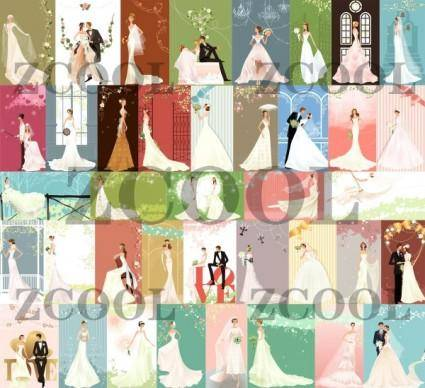 40 zhang meili wedding bride vector