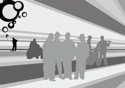 free vector Combination of vector construction workers