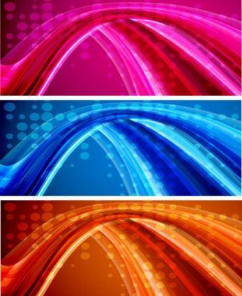 free vector Bright dynamic flow line vector