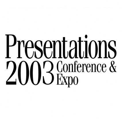 Presentations 2003