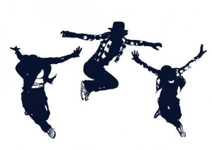 Classical figures vector dance