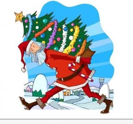 free vector Santa vector 2