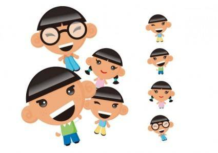 free vector Children the characters vector