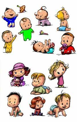 free vector Handpainted baby vector