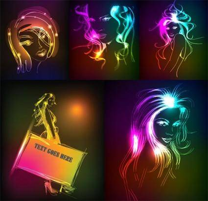 free vector The beauty of light vector drawing