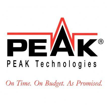 free vector Peak technologies