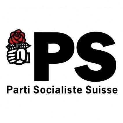 free vector Parti socialiste suisse