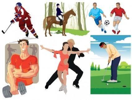 free vector Sports figures vector
