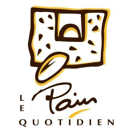 free vector Pain le quotidien