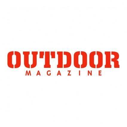 free vector Outdoor magazine