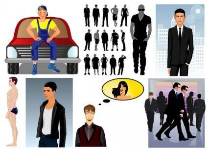 free vector Men theme vector