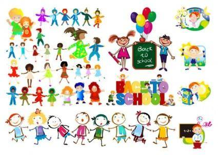 free vector Happy children vector