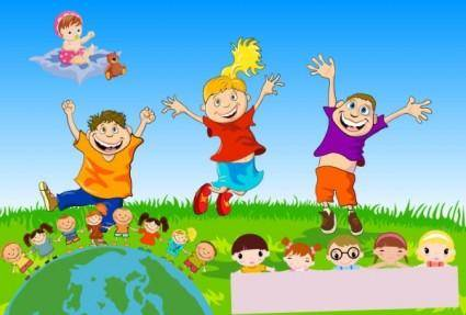 free vector Children theme vector