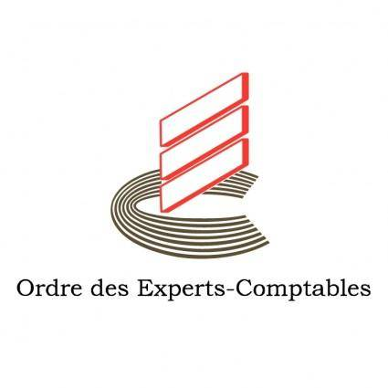 free vector Ordre des experts comptables