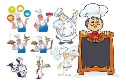 free vector Chef series vector