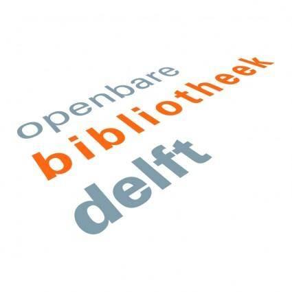 free vector Openbare bibliotheek delft