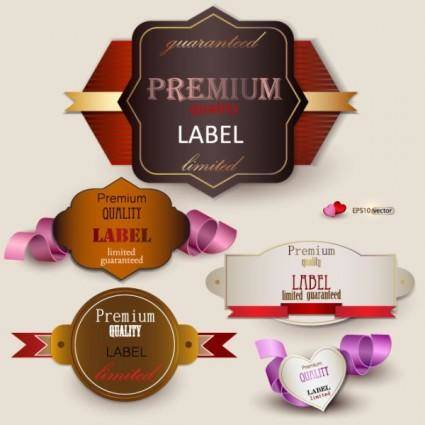 The exquisite label design 02 vector
