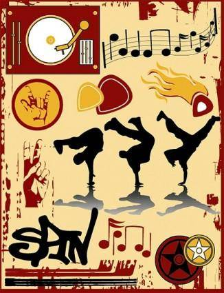 free vector The trend of musical elements vector