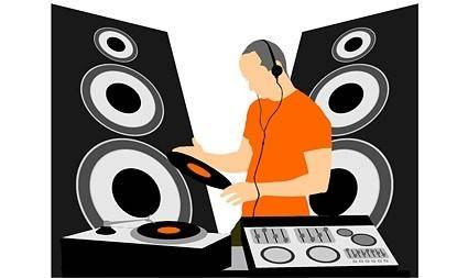 Dj equipment and dj music vector