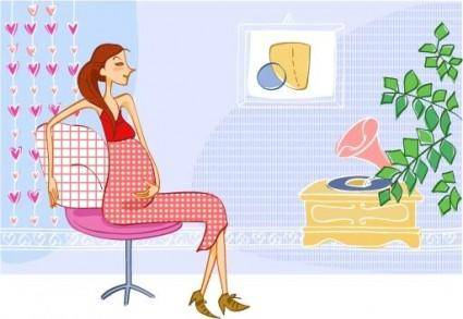 free vector Vector pregnant mother