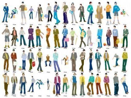 free vector 60 men vector fashion models