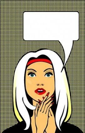 Female comics style vector