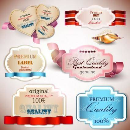 free vector Beautiful label design 03 vector