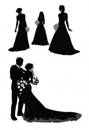 free vector Bride and groom vector