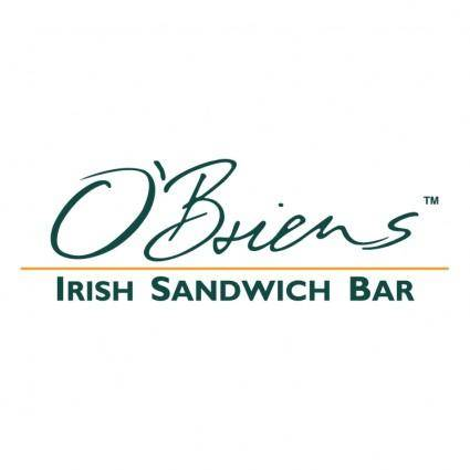 free vector Obriens irish sandwich bar