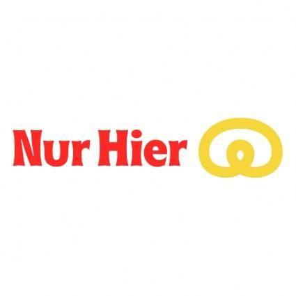 free vector Nur hier