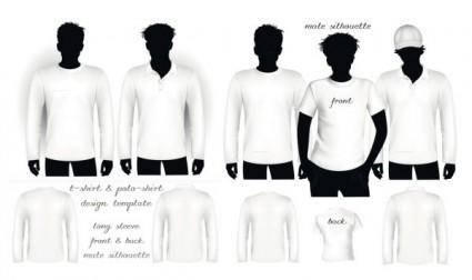 free vector Blank tshirt shirt and polo shirt vector
