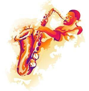 Former saxophone player vector
