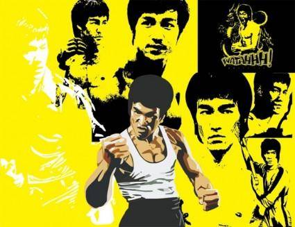free vector Bruce lee vector