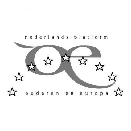 free vector Nederlands platform ouderen en europa