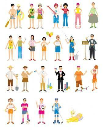 free vector Colorful figure vector