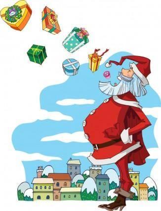 Santa vector 5