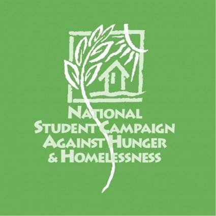 free vector National student campaign against hunger homelessness